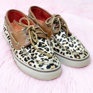 Sperry Top-Sider Leopard Print Loafers